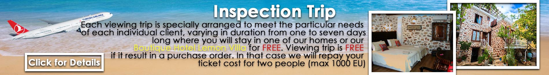 Free Inspection Trip to Alanya
