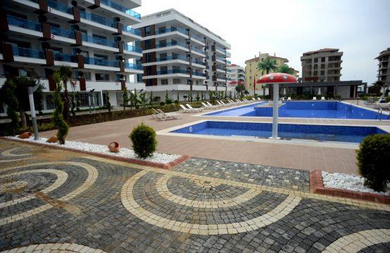 Deluxe 2+1 Seaview Beach Apartment in Alanya